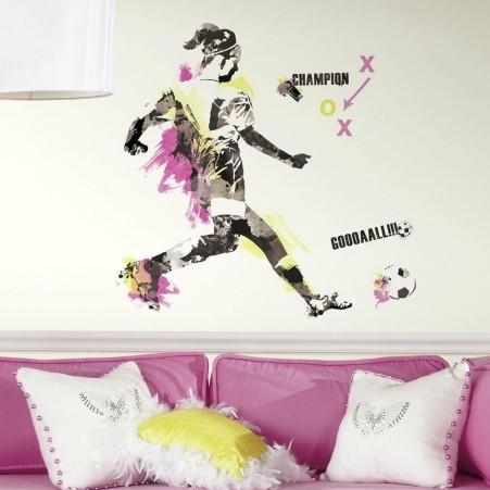 Collant mural championne de soccer