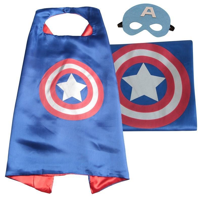 Cape et masque pour enfants Capitaine America