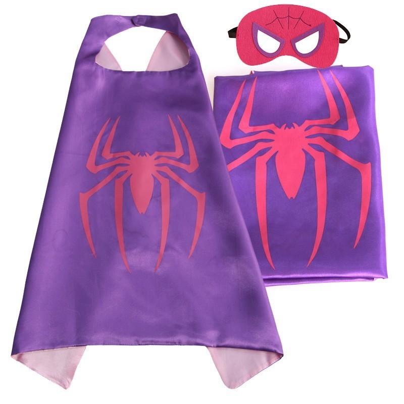 Cape et masque pour enfants Spidergirl