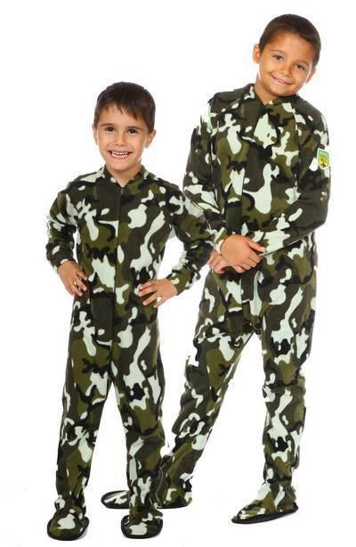 Pyjama à pattes enfant ''Camouflage vert''
