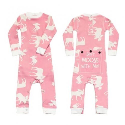 Pyjama Bébé ''flapjacks'' Classic Moose (Rose)