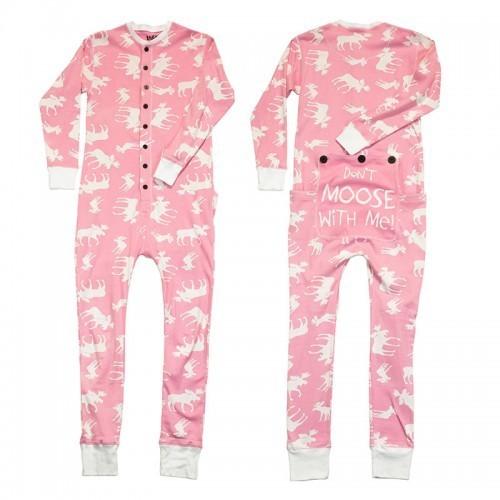 Pyjama Adulte ''flapjacks'' Classic Moose (Rose)