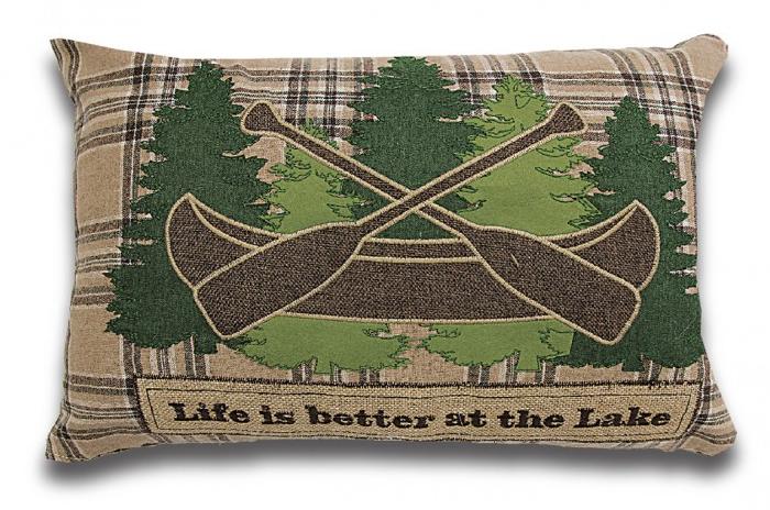 Coussin Lake Life (14'' x 20'')