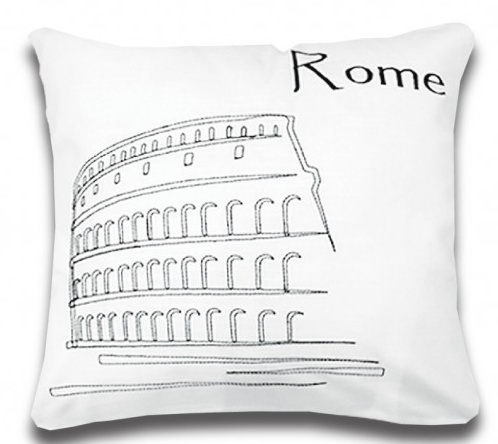 Coussin Postcard ROME 18'' x 18''