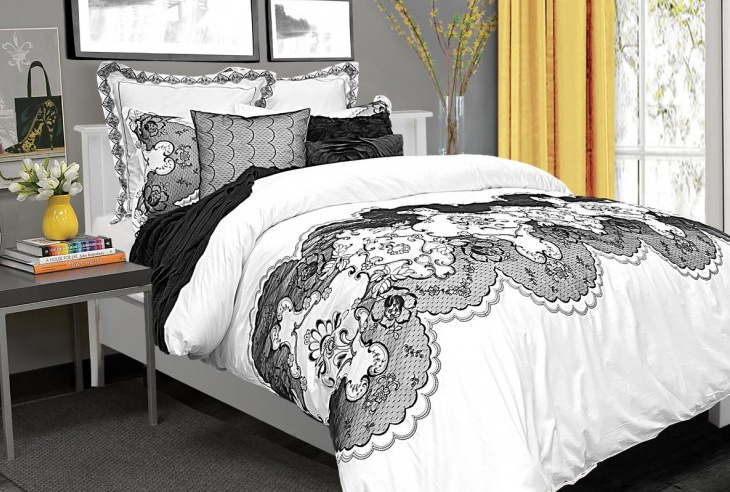 housse de duvet chantilly. Black Bedroom Furniture Sets. Home Design Ideas