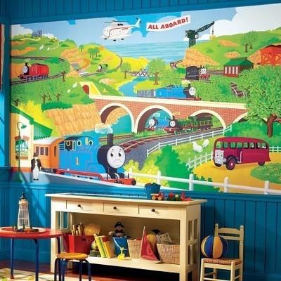Grande murale Thomas le train