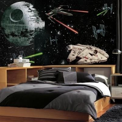 Grande murale Star Wars (vaisseaux)