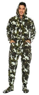 Pyjama à pattes adulte ''Camouflage vert''