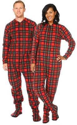 Pyjama à pattes adulte ''Christmas plaid'' X-Large