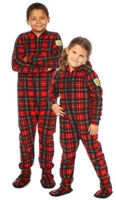 Pyjama à pattes bébé/enfant ''Christmas plaid'' 3-4ans