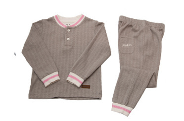 Pyjama 2 pièces Cozy Cottage Gris/Rose