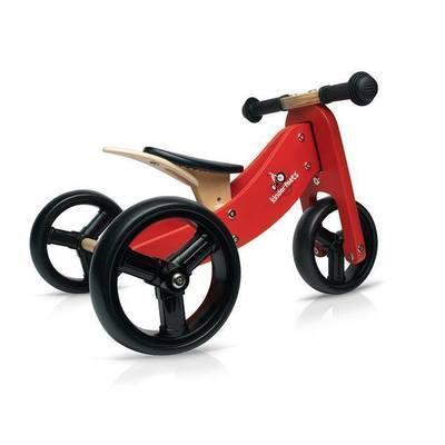 Draisienne 3 roues en bois ''Tiny Tot'' Rouge