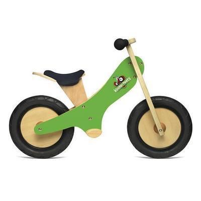 Draisienne en bois 2 roues Vert