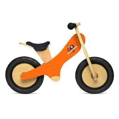 Draisienne en bois 2 roues Orange