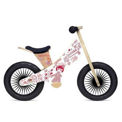 Draisienne en bois 2 roues Princesse retro