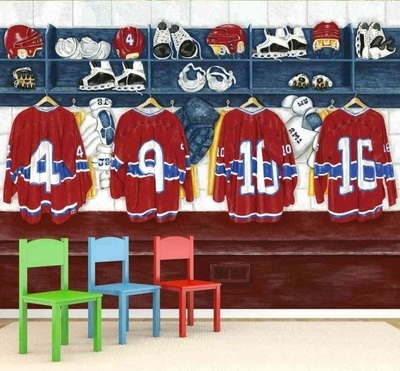 Murale Chambre des joueurs 10.5' x 8'