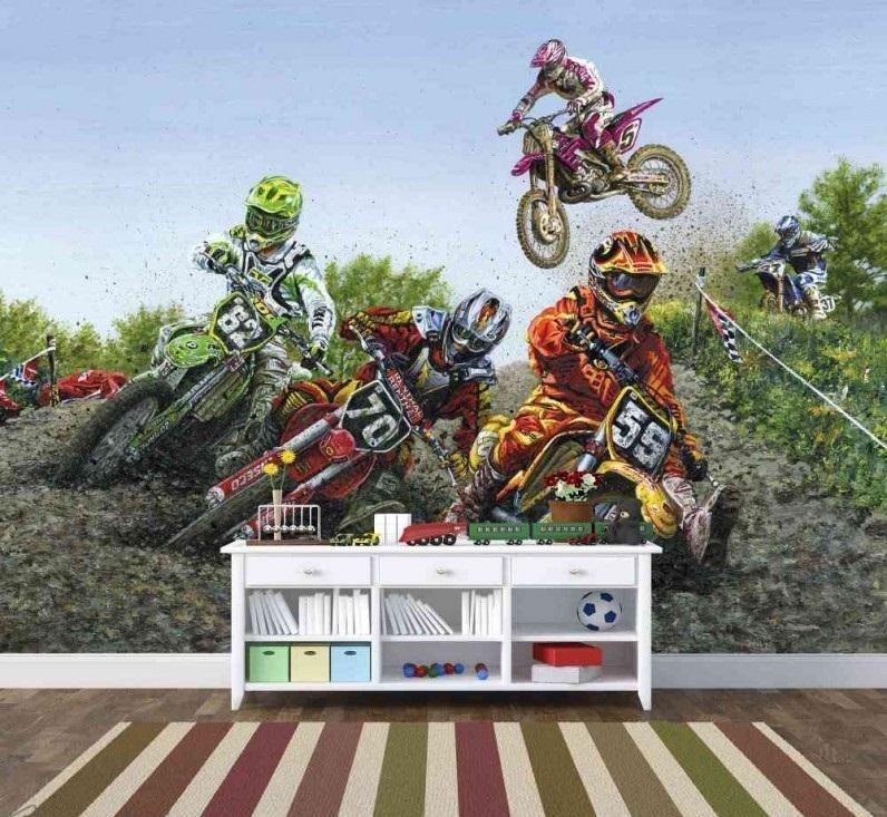Murale Motocross sport extrême 9' x 7'