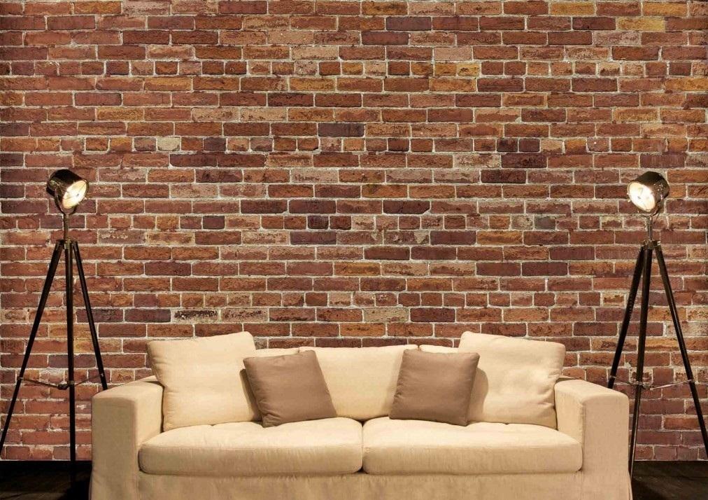 Murale Mur de briques brunes 12' x 8'