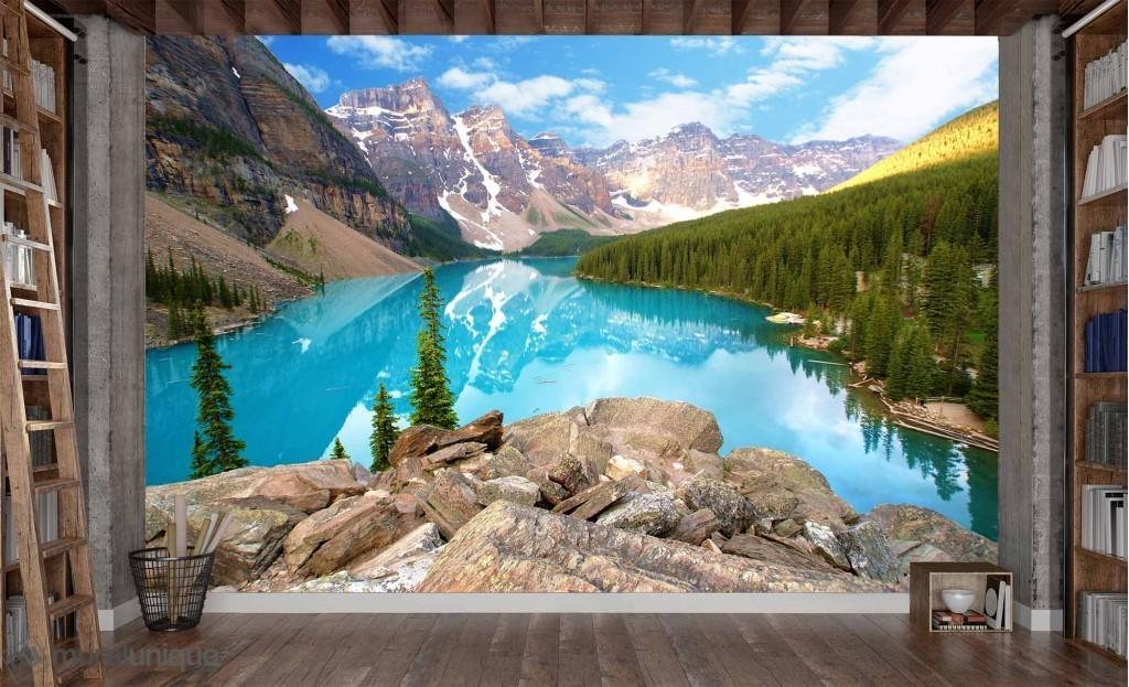 Murale Lac Moraine (Alberta) 10.5' x 7'