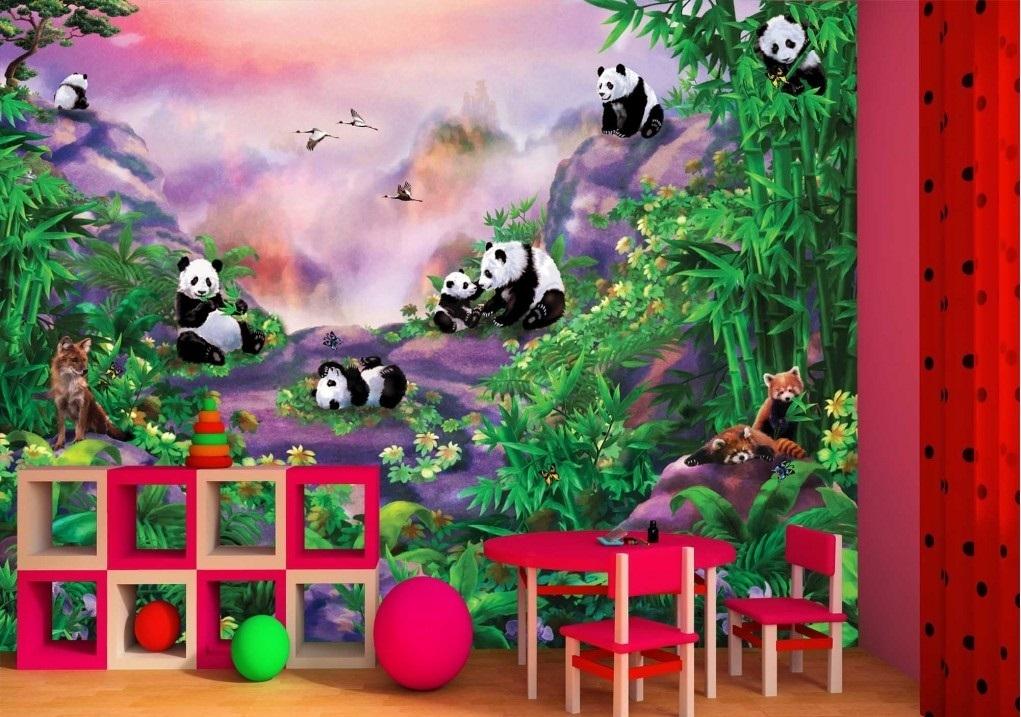 Murale Pandas 9' x 7'