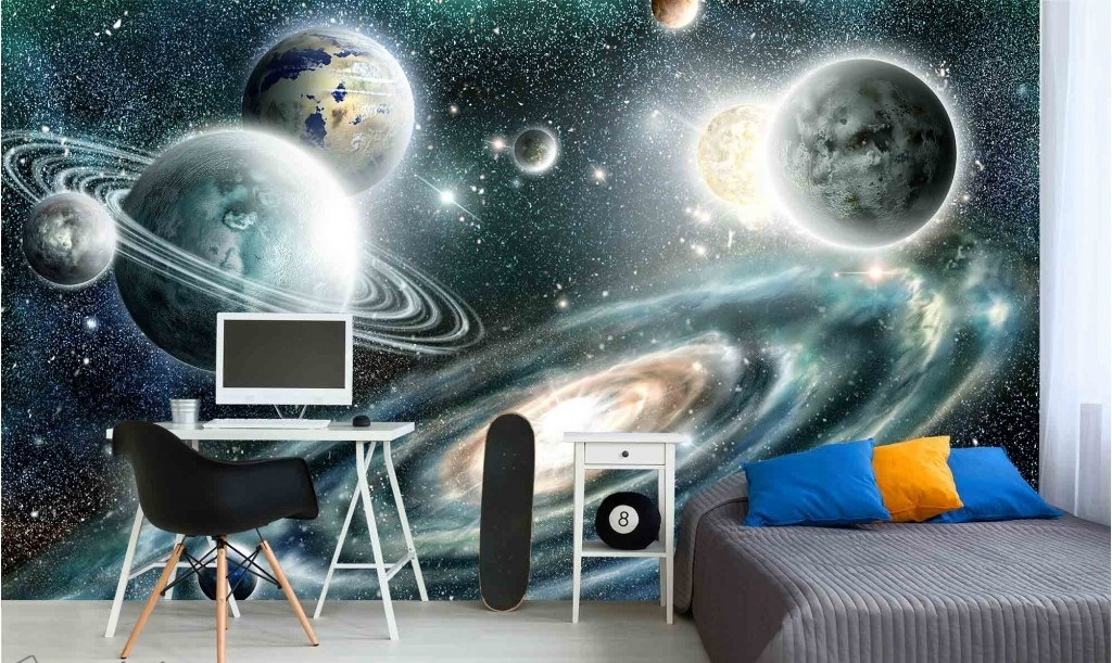 Murale Loin dans L'Espace 13.5' x 8'