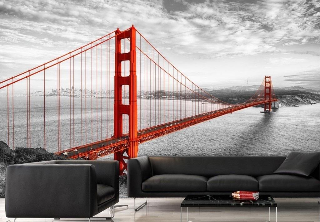 Murale Pont Golden Gate de San Francisco 12' x 8'