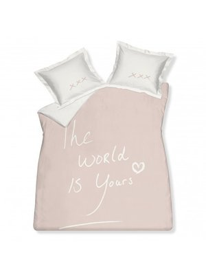 Housse de couette The world is yours (rose poudre)