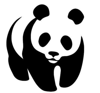 Silhouette de Panda
