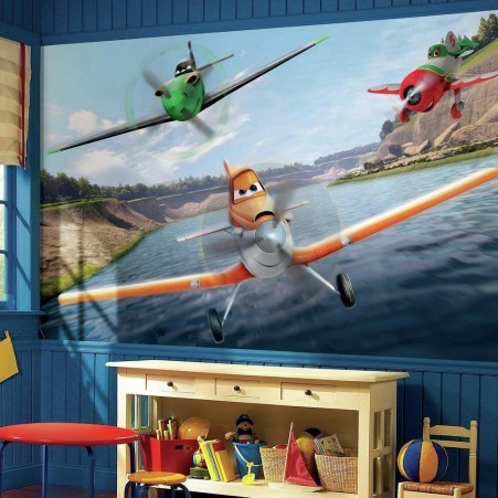 Grande murale Les Avions