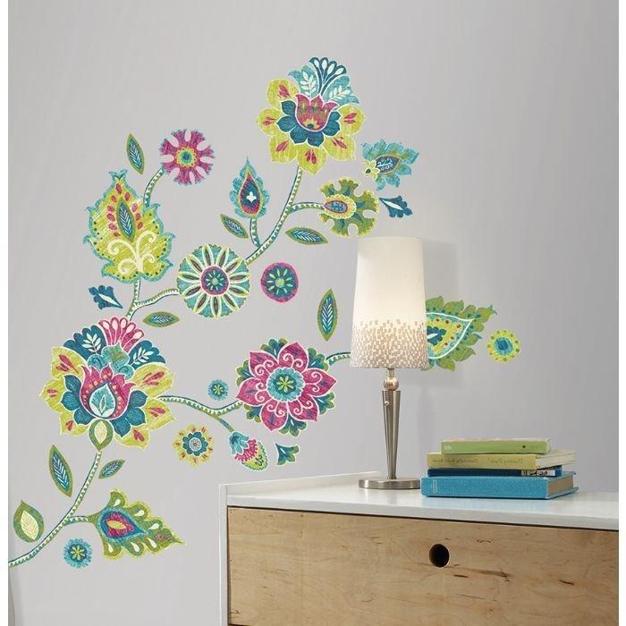 Collant mural Fleurs Boho