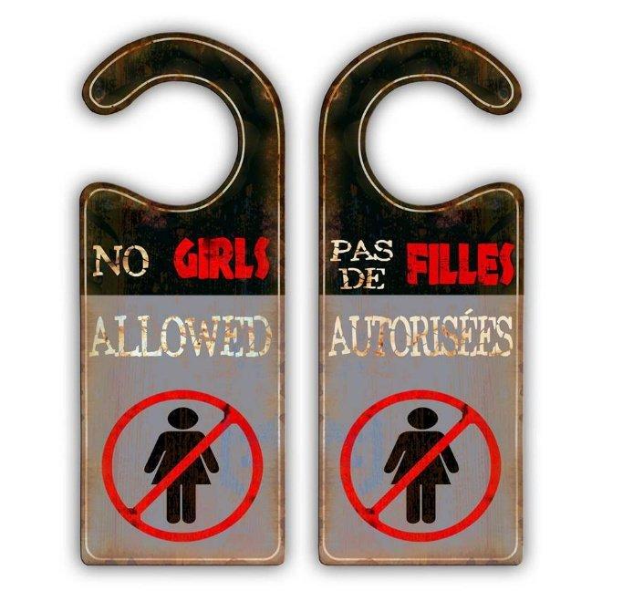Affiche de porte (Pas de Filles autorisées)