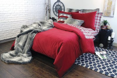 Housse de duvet Langtry (Rouge cramoisi) - KING