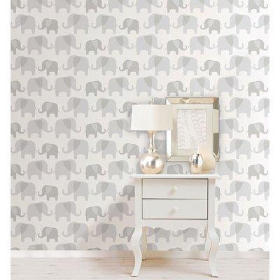 Éléphant gris (papier peint adhésif)