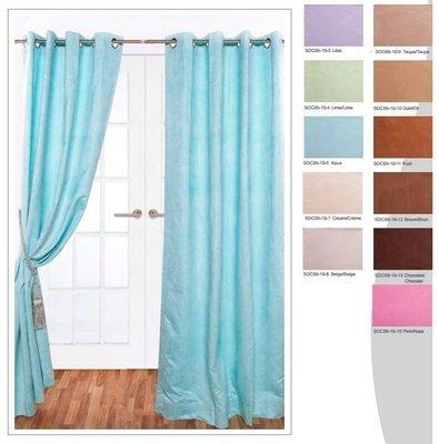 Panneau de rideau Suede (11 couleurs)