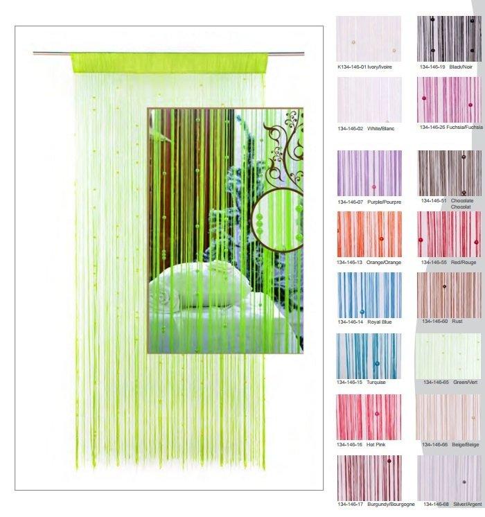 Panneau de rideau String (16 couleurs)