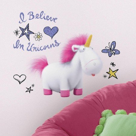 Collant mural ''I Believe in Unicorn''