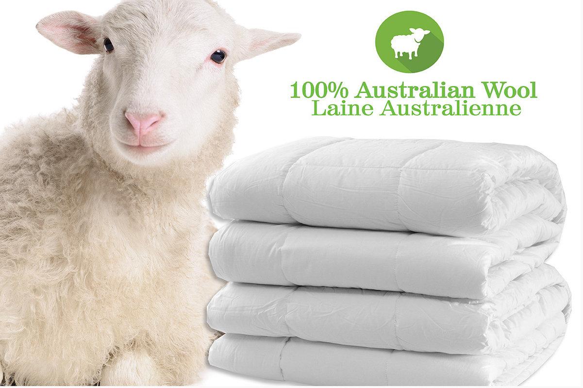 Couette en laine australienne.
