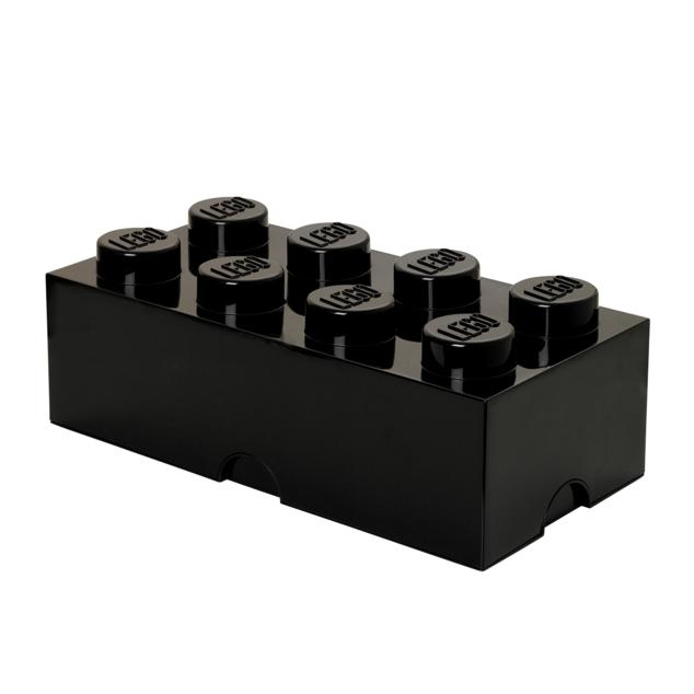 Grande boite de rangement LEGO noire