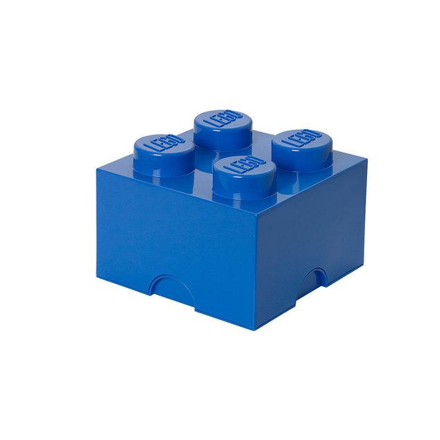 Petite boite de rangement LEGO bleue