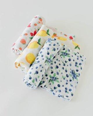Paquet de 3 Couvertures en Mousseline / Petits Fruits