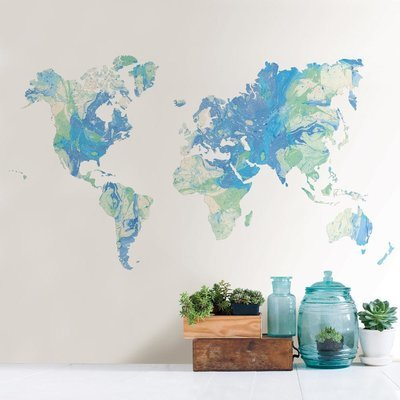Collant mural World Map