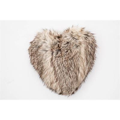 Coussin Coyote en cœur