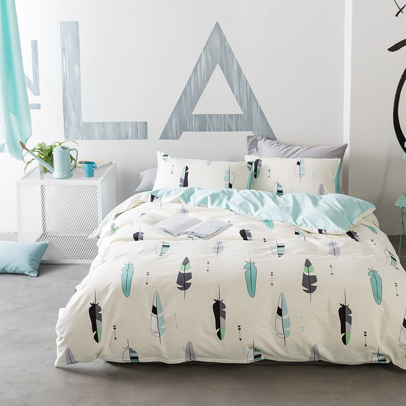 ensemble de literie plumes double. Black Bedroom Furniture Sets. Home Design Ideas
