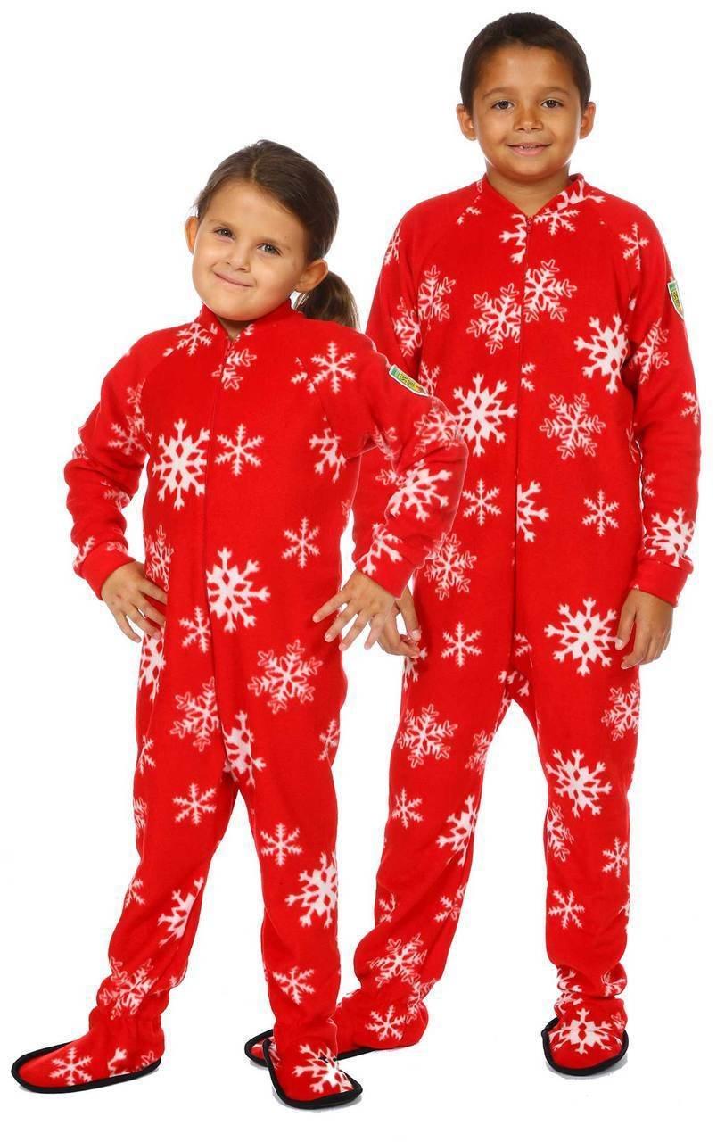 Pyjama à pattes bébé/enfant ''Flocons de neiges''  8-10ans