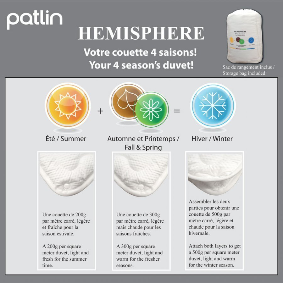 Couette 4 saisons Hemisphere