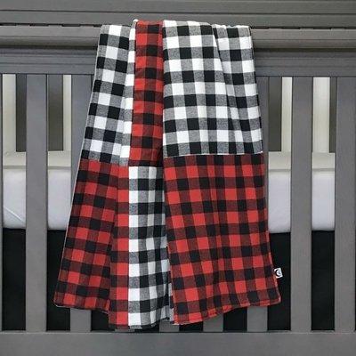 Couverture pour bassinette - Cozy patchwork