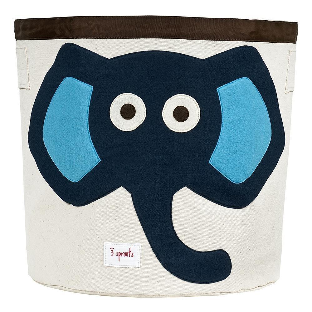 Corbeille de rangement (éléphant bleu)