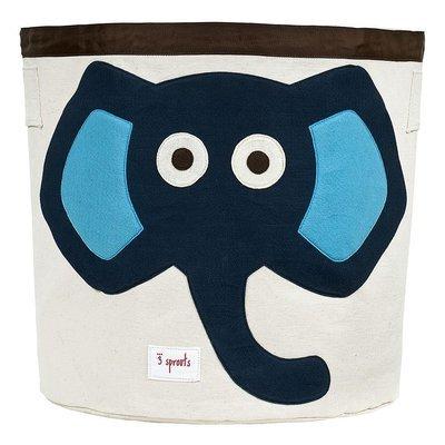 Corbeille de rangement - Éléphant bleu