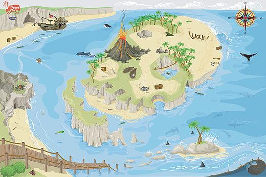 Tapis de jeux - Pirate