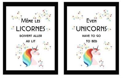 Affiche métallique : Licornes